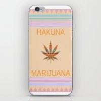 marijuana iPhone & iPod Skins featuring Hakuna Marijuana by Kush and Daisies