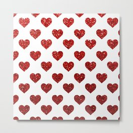 Red Hearts Metal Print