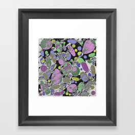 Crazy Paving - Abstract, textured, pastel coloured artwork Framed Art Print