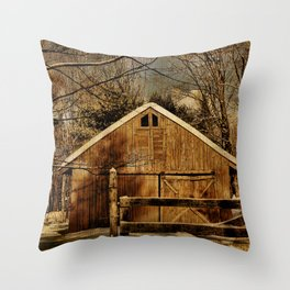 The Second Chance Barn Throw Pillow
