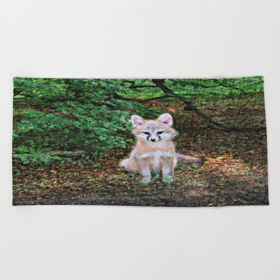Little Grey Fox II Beach Towel