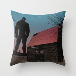 When Giants Roamed the Earth Throw Pillow