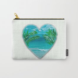 Florida, beach with palms~Ocean Love Carry-All Pouch