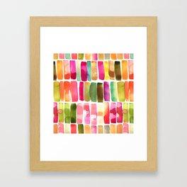 Watercolor Stripes Framed Art Print