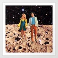 walk the moon Art Prints featuring Moon walk by Steven Quinn