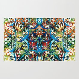 Bold Pattern Art - Color Fusion Design 8 By Sharon Cummings Rug