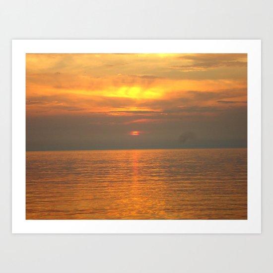 Rovigno Sunset Art Print