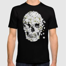 A Beautiful Death - mono MEDIUM Mens Fitted Tee Black