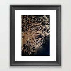 Untitled(gold&black) Framed Art Print