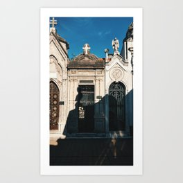 Mausoleums of Recoleta Cemetary in Buenos Aires, Argentina Art Print