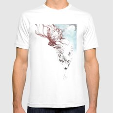 Dreaming about wolves White MEDIUM Mens Fitted Tee