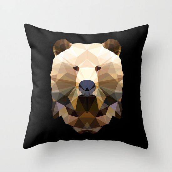 Polygon Heroes - The Bear Throw Pillow
