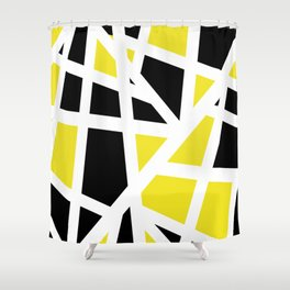 Abstract Interstate  Roadways Black & Yellow Color Shower Curtain