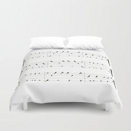 Musical Birds Duvet Cover