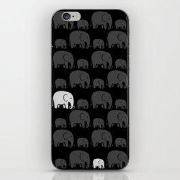 Elephant Black iPhone Skin