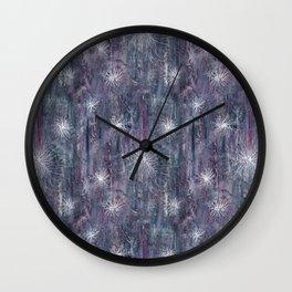Mauve abstract Wall Clock