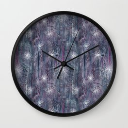Mauve abstract Wall Clock