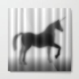 Unicorn Silhouette Metal Print