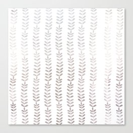 Silver leaf trellis Canvas Print