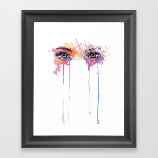 Rainbow Tears Framed Art Print