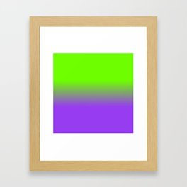 Neon Purple and Neon Green Ombré  Shade Color Fade Framed Art Print