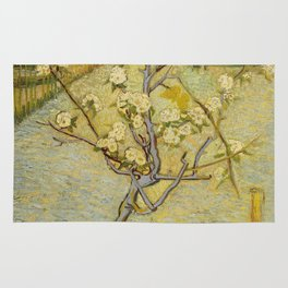 Small Pear Tree in Blossom Rug