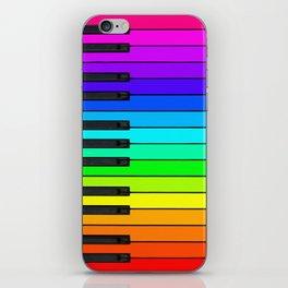 Rainbow Piano Keyboard  iPhone Skin
