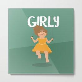 Girly - Jump Rope princess Metal Print