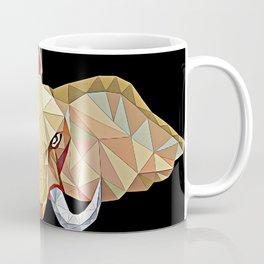Elephant illustration in a modern beautiful origami jewel colors Coffee Mug