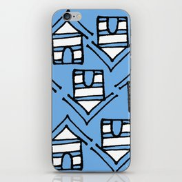 Crazy Huts Skyblue iPhone Skin