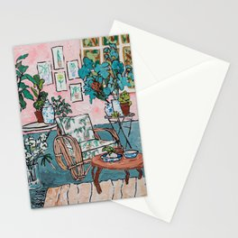 Rattan Chair in Jungle Room Stationery Cards