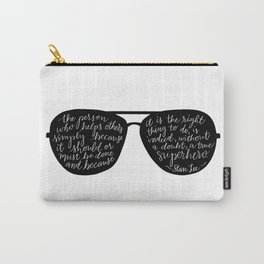 Stan Lee Quote, Superhero Carry-All Pouch