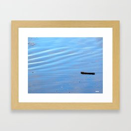 Driftwood beached Framed Art Print