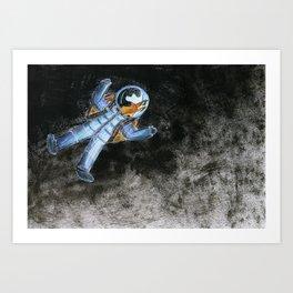 Snail in space Art Print