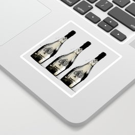 spade champagne Gold, illustration by miart Sticker
