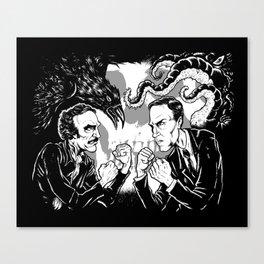 Poe vs. Lovecraft Canvas Print