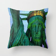 Statue of Liberty 4th of July tribute Throw Pillow