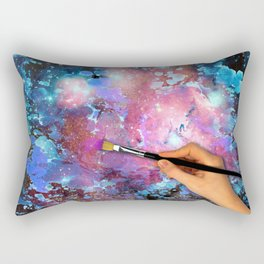 Paint me a universe Rectangular Pillow