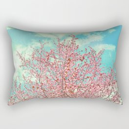 Pink flowers in the early morning Rectangular Pillow