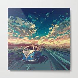 summer road landscape Metal Print