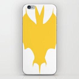 Orange-Yellow Silhouette Of a Bat  iPhone Skin
