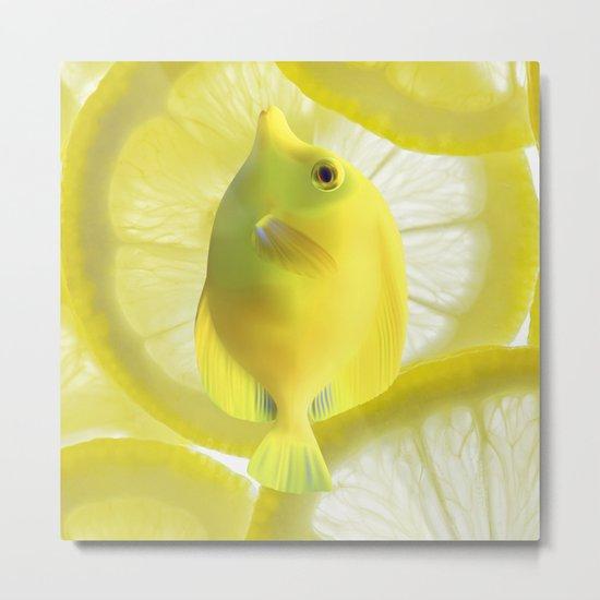 Lemon Fish Metal Print