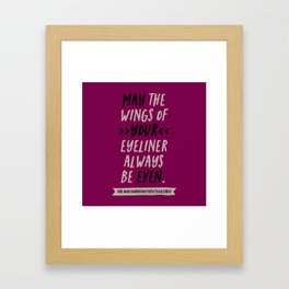 WING OF YOUR EYELINER Framed Art Print