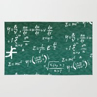 math Area & Throw Rugs featuring Math Equations by WIGEGA