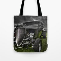 ford Tote Bags featuring Vintage Ford by Nicola Lee