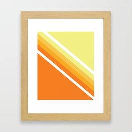 Retro Orange n' Yellow Lines Framed Art Print