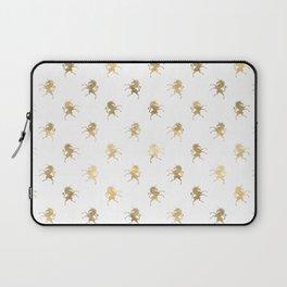 Gold Unicorn Pattern Laptop Sleeve