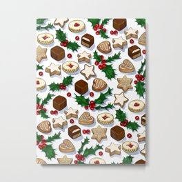 Christmas Treats and Cookies Metal Print