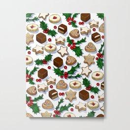 Christmas Treats and Cookies Metal Print