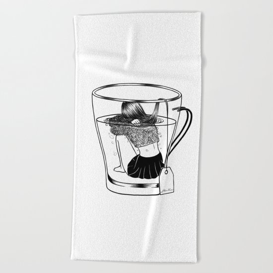 Tea Time Beach Towel